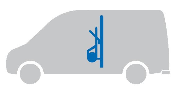 ATV   ECO Shelf 2.0   Laderaumunterteilung mit Paketkarrenhalter